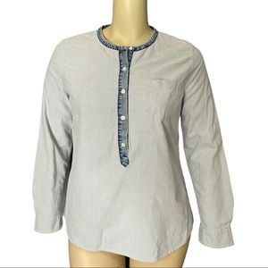 Max Jeans Blue Cotton Long Sleeved Top Size XL